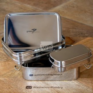 Stainless Steel Round Containers (Nesting Set of 3)